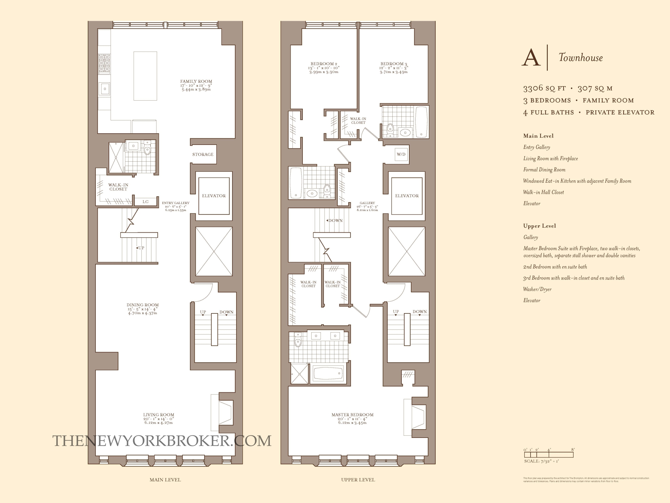 Townhouse Floor Plan With Elevator
